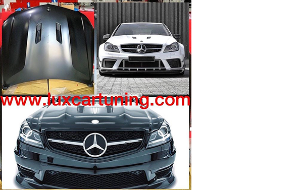 Aliuminium hood Black Series for Mercedes Benz C class W204