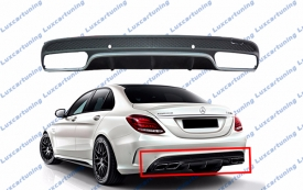 Diffusor 63 AMG on rear bumper for Mercedes Benz C class W205