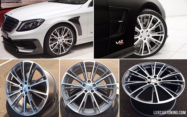 Rims by Style B Monoblock R 20 size for Mercedes Benz S class W222 5x112 8.5 fron and 9.5 rear