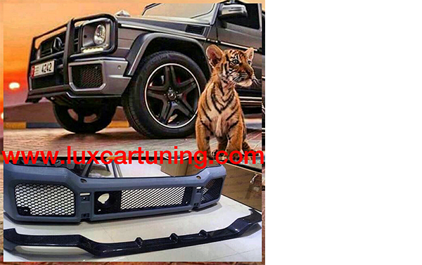 Carbon front lip by Mansory style for Mercedes Benz G class W463