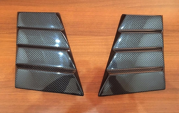 Carbon Pads on front fenders by Brabus style for Mercedes Benz G class W463