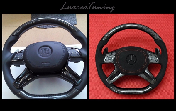Carbon steering wheels by AMG and BRABUS style for Mercedes Benz G class W463, ML class W166, GL class X166