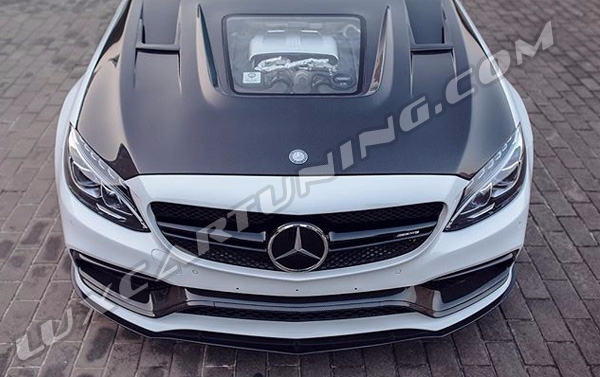 Full carbon fiber body kit with glass design for Mercedes Benz C63 AMG W205