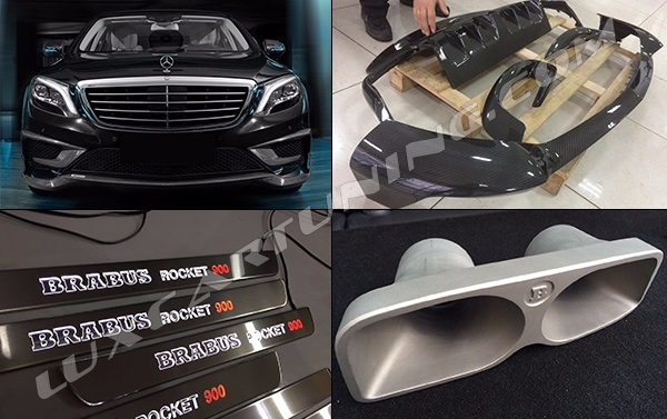 In Stock Soon will be ready Full Carbon kit Rocket 900 for Mercedes Benz S63/65 AMG W222 and Body kit Brabus 850 for Mercedes benz S coupe W217