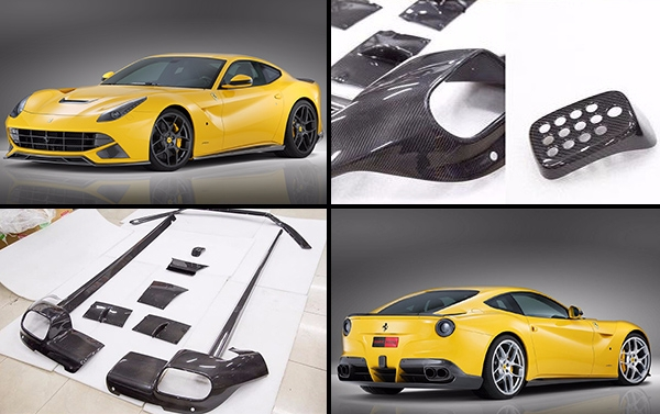 Carbon fiber body kit NOVITEC ROSSO for Ferrari F12 Berlinetta : Front lip, side skirts, rear diffusor