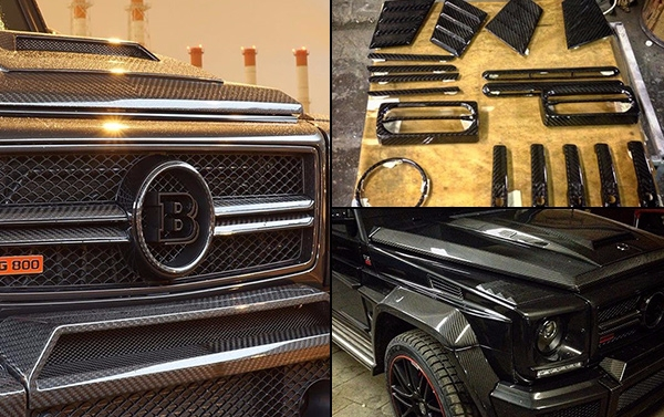 Full carbon body kit Brabus WideStar style for Mercedes Benz G class W463