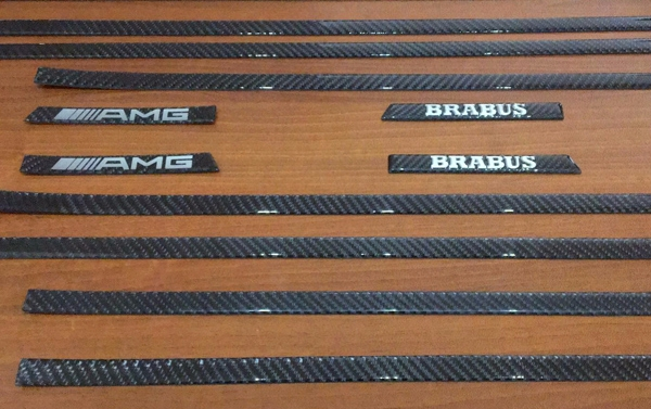 Side carbon molding set by BRABUS and AMG style for Mercedes Benz G class W463