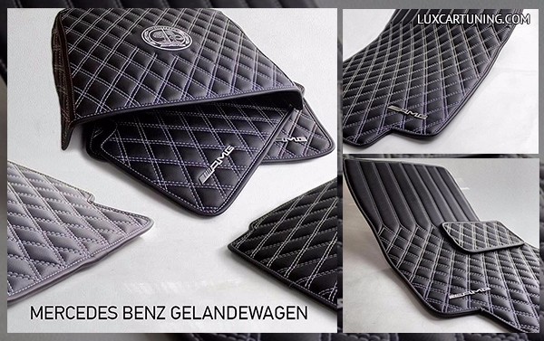 Carpets set by BRABUS style for Mercedes Benz G class W463: in set 5 pcs