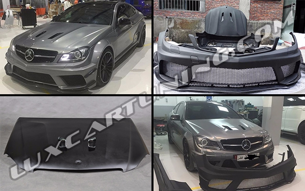 Full body kit Black Series for Mercedes Benz C class W204
