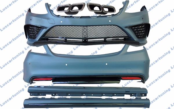Body kit 63 AMG for Mercedes Benz S class W222: front bumper set, side skirts, rear bumper set, exhaust pips
