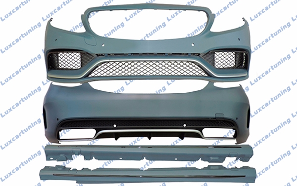 Body kit 63 AMG for Mercedes Benz C class W205: front bumper set, side skirts, rear bumper set