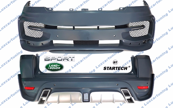 Body kit StarTech for Range Rover Sport after 2013 model: front bumper set, rear bumper set, exhaust pips