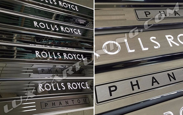 Illuminated entrance panels (sills) for Rolls Royce Phantom I and II