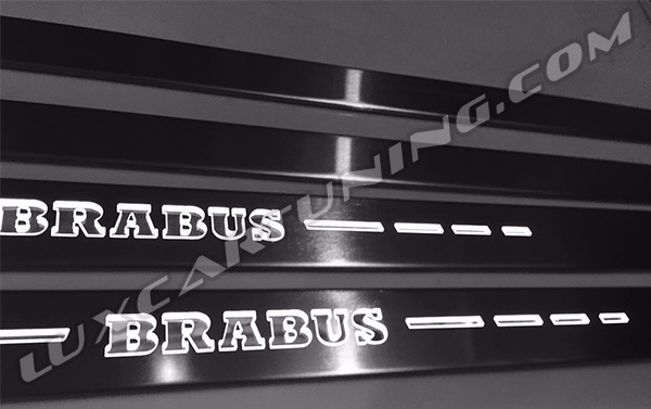 Illuminated entrance panels (sills) Brabus for Mercedes Benz S coupe W217