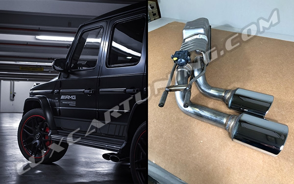 2019MY 63 AMG valve control exhaust system for Mercedes Benz G500 W463A.