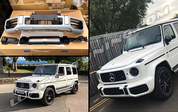 Again we are first | G63 AMG 2018MY front bumper assembly available in @luxcartuning_official .