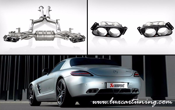 AKRAPOVIC full titanium Evolution exhaust system for Mercedes Benz SLS 63 AMG(GT) C197