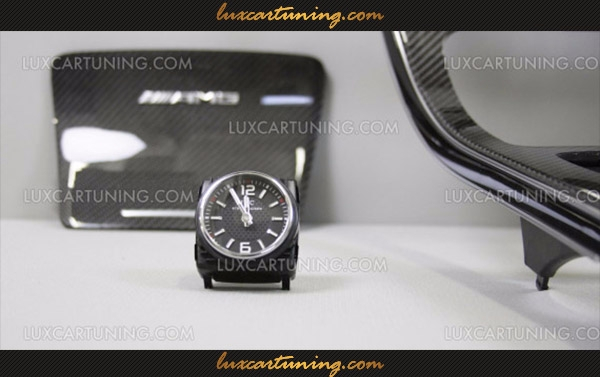 AMG OEM Carbon Trim and IWC Clock Retrofit for C-Class C205