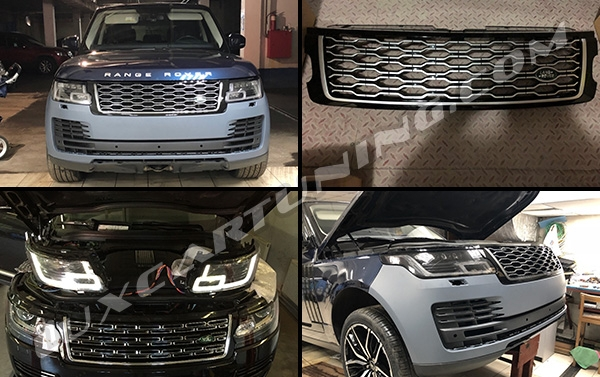 Available In Stock   2018MY facelift body kit for Range Rover Vogue L405 2013-17 models: