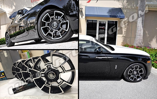 Black Badge R21 forged wheels for Rolls Royce Wraith and Ghost!
