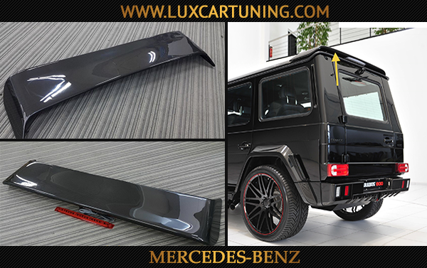 Brabus rear carbon wing-spoiler with stop signal red light for Mercedes Benz G class W463, G500 4x4.