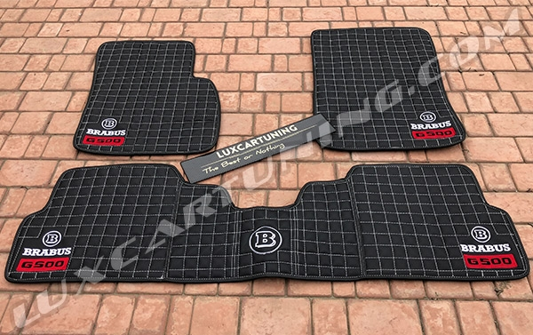 Brabus style LIMITED EDITION G500 floor mats for Mercedes Benz G500 4x4.