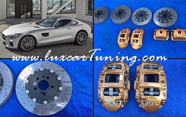 Carbon ceramic break system set(front and rear calipers with discs and breakpads) for Mercedes Benz AMG GT C190
