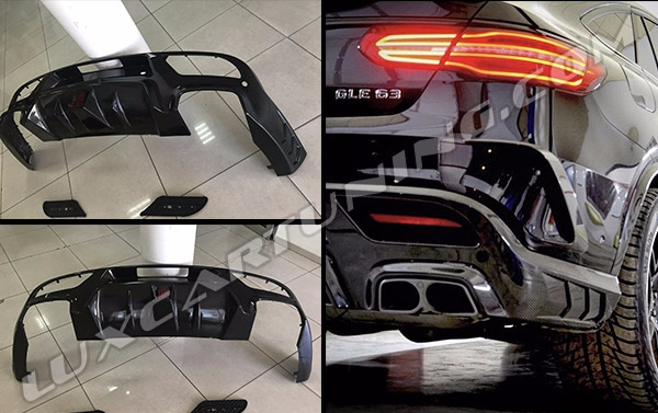 Carbon diffuser BRABUS style for Mercedes Benz GLE Coupe C292