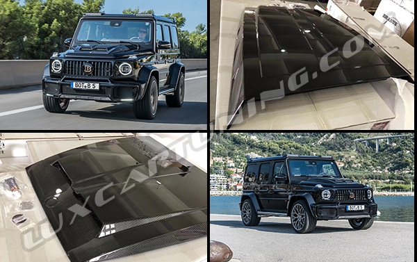 Carbon fiber Brabus hood scoop for Mercedes Benz G class W463A up to 2018 model