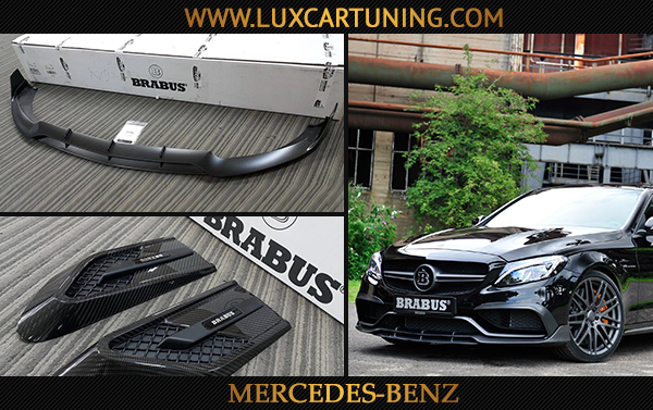Carbon fiber exclusive Brabus body kit for your Mercedes Benz C63 AMG W205: