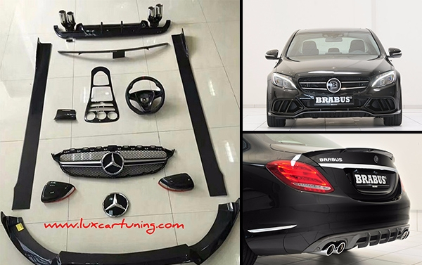 Carbon fiber exterior and interior aero kit Brabus600 style for Your Mercedes Benz C class W205