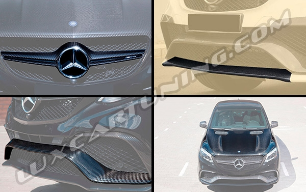 Carbon fiber exterior body kit for Mercedes Benz GLE 63 coupe C292: