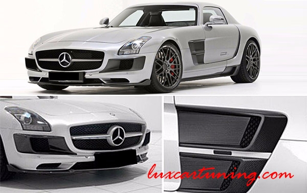 Carbon fiber full body kit Brabus 700 Biturbo for Mercedes Benz SLS 63 AMG C197