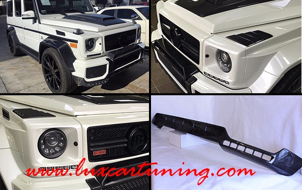 Carbon front lip with original Nolden LED DRL by Brabus style for Your Mercedes Benz G class W463