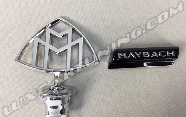Central hood Maybach logo and radiator grill right side Maybach logo for Your Mercedes S class W222 and Maybach S600 X222
