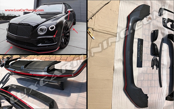 FIRST EDITION RED LINE carbon body kit + side emblems for Bentley Bentayga: