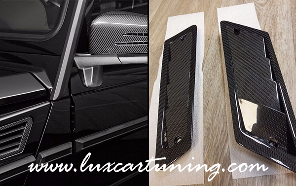 Front fenders carbon air intakes for Mercedes Benz G class W463