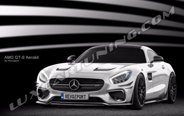 Full carbon fiber RevoZport GTZ-650 aerokit for Mercedes Benz AMG GT/S C190: