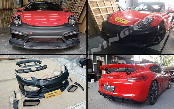 GT4 body kit for Porsche Cayman 981: