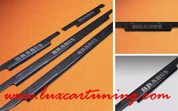 Illuminated carbon fiber entrance panels for Mercedes Benz G class W463, and G500 4x4