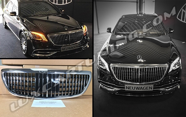 In Stock | 2018-19MY Maybach S680 genuine radiator grill for Maybach X222 and Mercedes Benz S class W222.