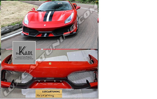 ♦In stock | Front bumper assembly Pista for Ferrari 488.