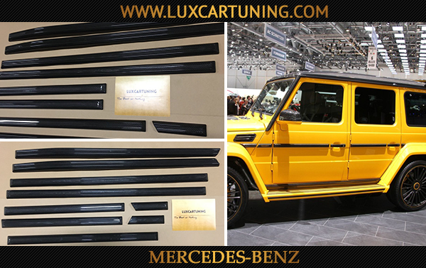 In stock / Full carbon side moldings set for Mercedes Benz G class W463, G500 4x4.