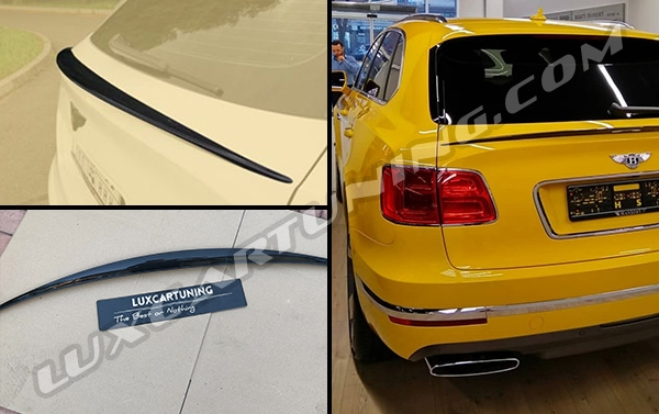 In stock | Mansory carbon fiber trunk spoiler for your Bentley Bentayga.