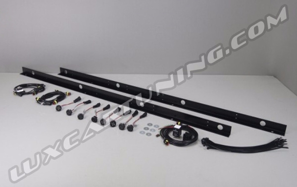 ☑️In stock original Brabus LED lights under site steps for Your Mercedes Benz G class W463, G500 4x4, G63 AMG 6x6.