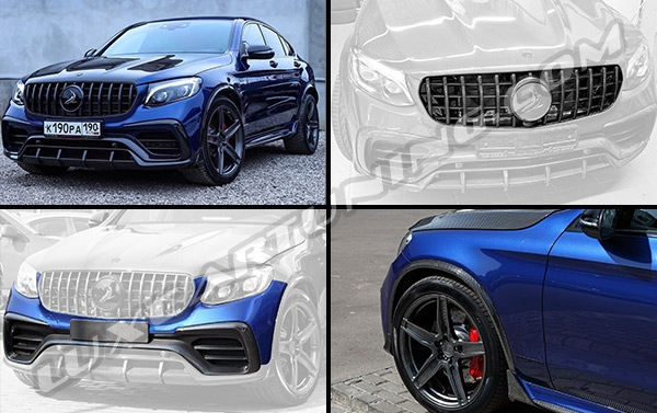 Inferno carbon fiber body kit by Top Car Design For Mercedes Benz GLC Coupe: