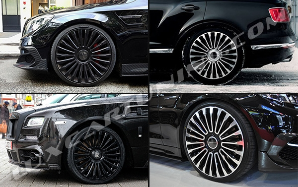 Mansory Multispoke R19-R20 black glossy and silver polishing wheels for your: