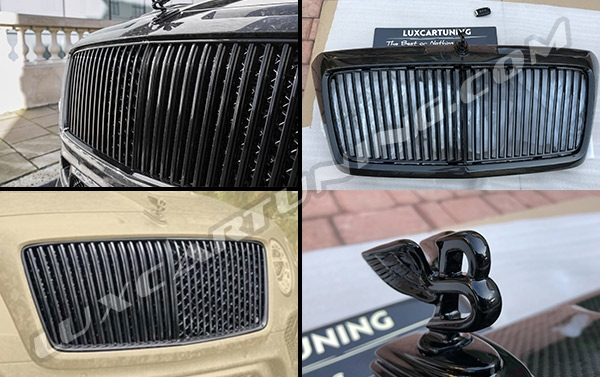 Mansory Vertical grill with carbon frame and black color Mansory style grill's logo for your Bentley Bentayga.