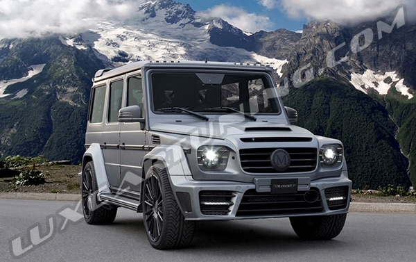Original Mansory sport exhaust system with exhaust tips for Mercedes Benz G class W463, G500 4x4, G63 AMG 6x6