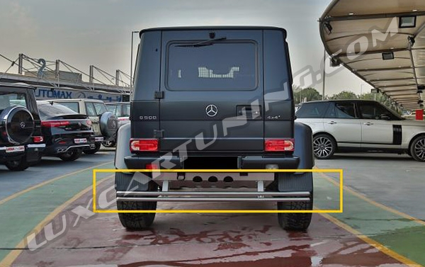 Rear protection plate and bar for Your Mercedes Benz G class W463, G500 4x4, G63 AMG 6x6